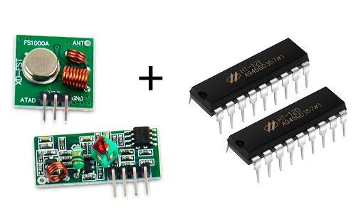 Módulo Rf Transmisor Y Receptor Encoder Decoder Arduino