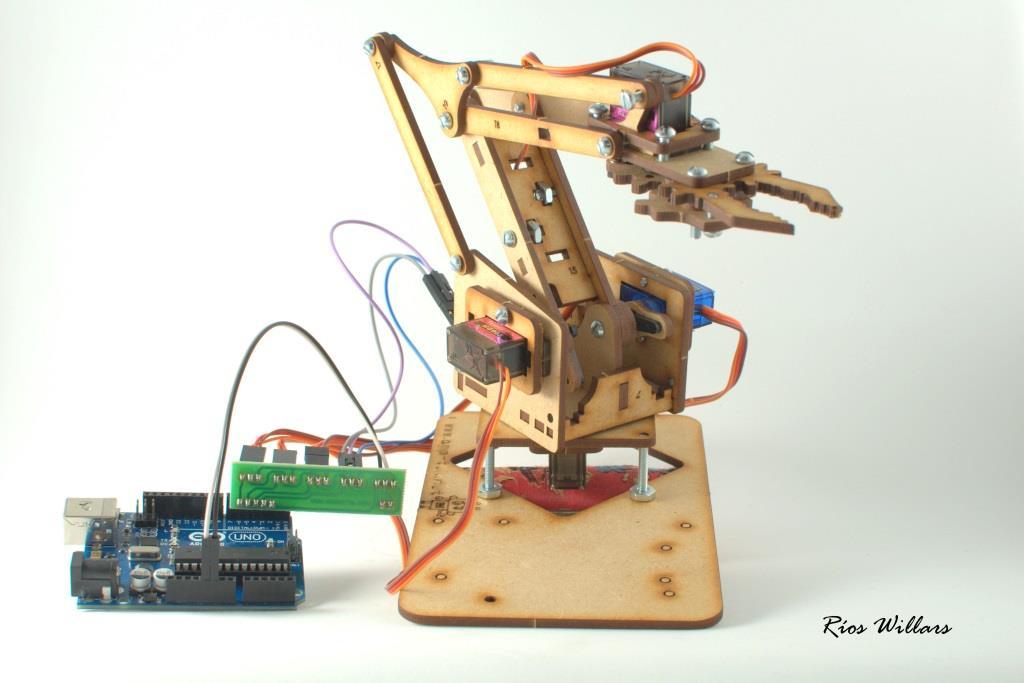Brazo Rob 243 Tico Mdf Video Arduino Saltillo